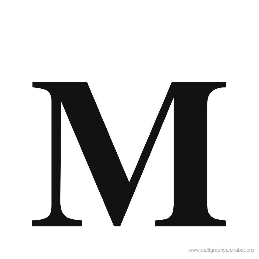 roman-calligraphy-alphabet-m