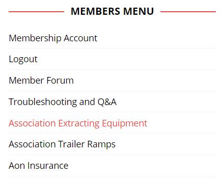members menu